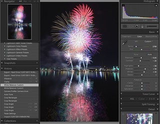 Docklands Fireworks - Lightroom - Stage 3
