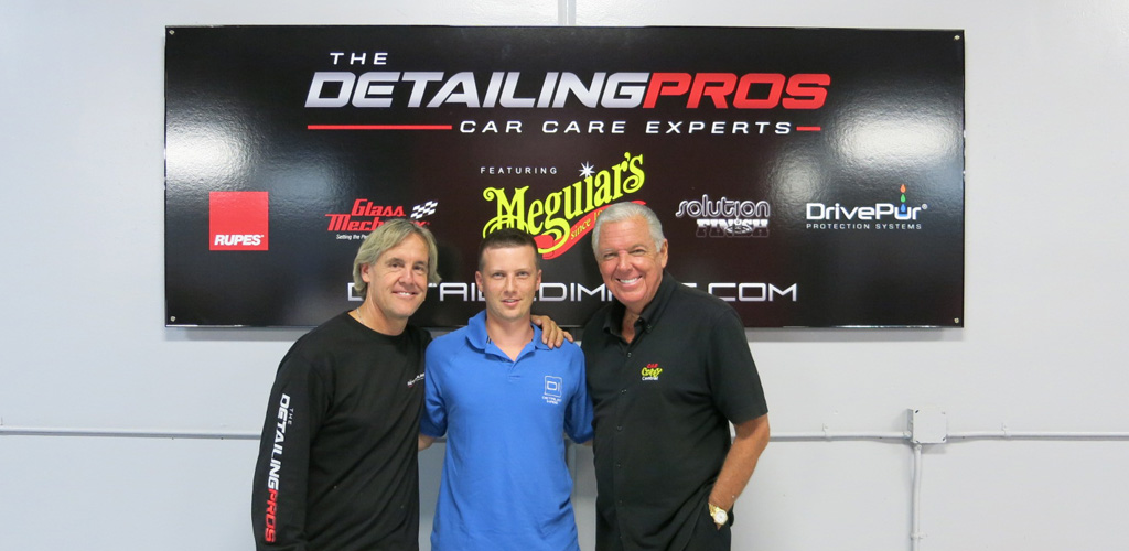 The Detailing Pros' Mel Craig, Detailed Image's Greg Pautler, and Meguiar's Barry Meguiar