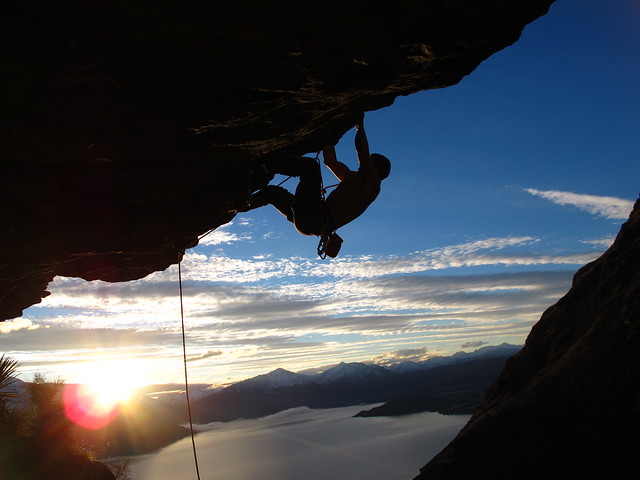 Rock Climbing in Queenstown, New Zealand