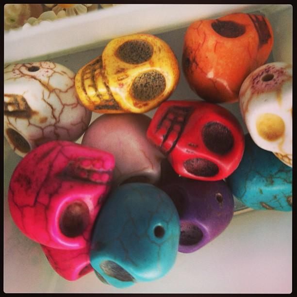 #Skull beads!