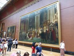 Ein Riesengemälde im Louvre