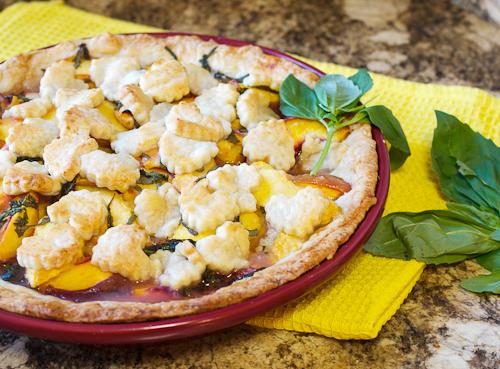 Peach Basil Pie #SundaySupper