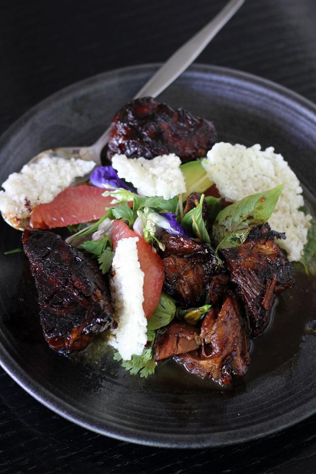 Pork neck salad at Paste Bangkok
