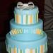 pinstripes & baby blocks cake
