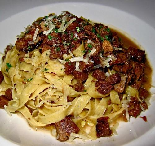 spaghetti with spring peas