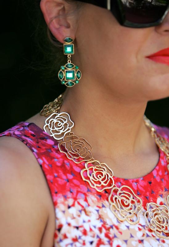 style tab, boston fashion blogger, emerald earrings,
