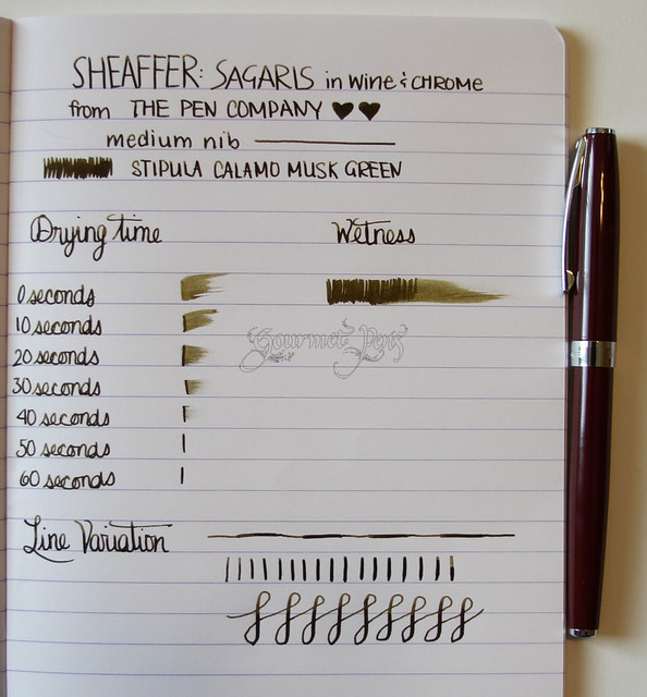 Sheaffer Sagaris Writing Sample