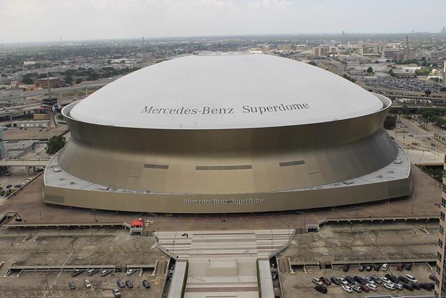 Mercedes benz superdome new orleans la taken during for Where is the mercedes benz superdome