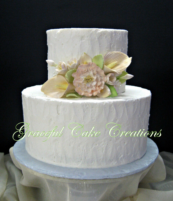 Rustic Wedding Cakes Decorated With Pinecones And Wheat And Lavender