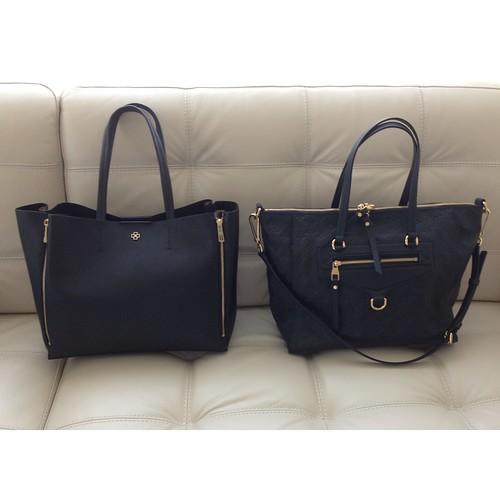 安·泰勒(Ann Taylor)手提袋与路易威登(Louis Vuitton)Lumineuse PM Monogram Empreinte