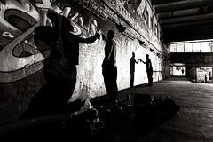 Street Artists in Leake Street tunnel
