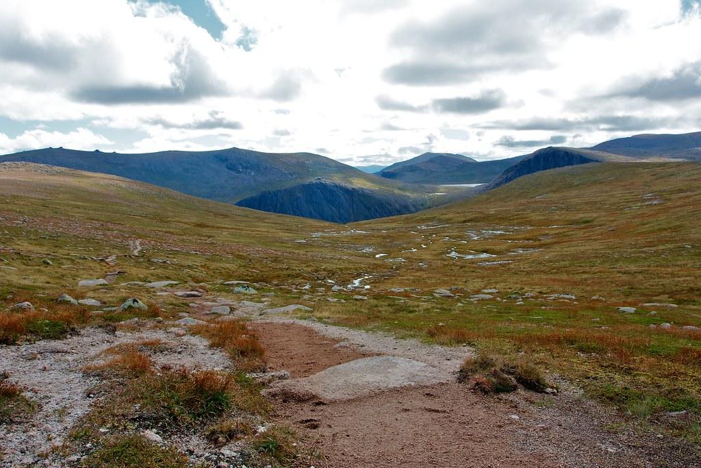The track through Coire Raibert