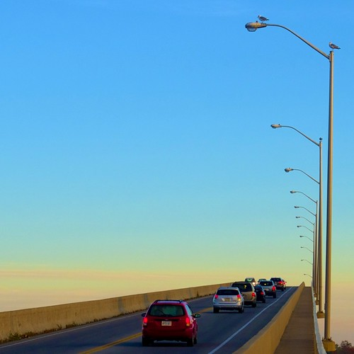 bridge blue sky seagulls sunrise bayofquinte
