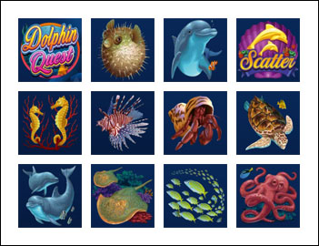 free Dolphin Quest slot game symbols