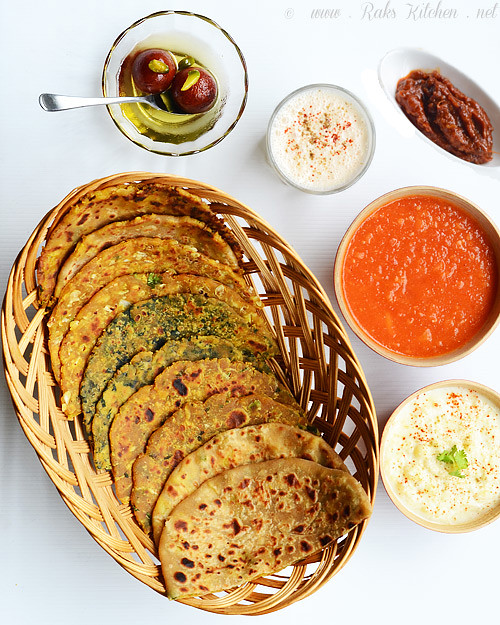 North Indian parathas