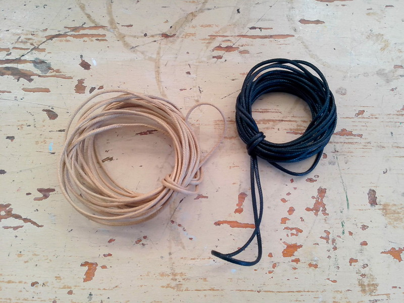 What I found for craft cord: waxed cotton