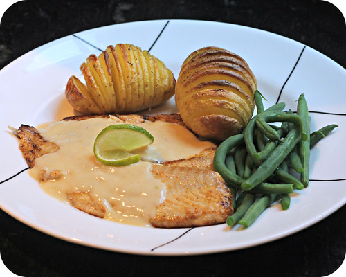 Cajun Red Snapper with Lime Beurre Blanc