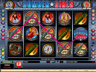 Bomber Girls Free Spins Win