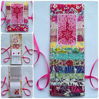 All done! What do you all think?  #vividfelicity #needlebook #libertyoflondon #annamariahorner #voile #fabricstamps