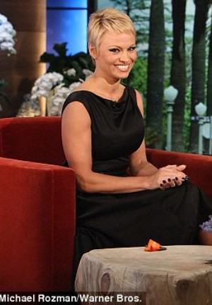 Pamela Anderson new cropped hair style
