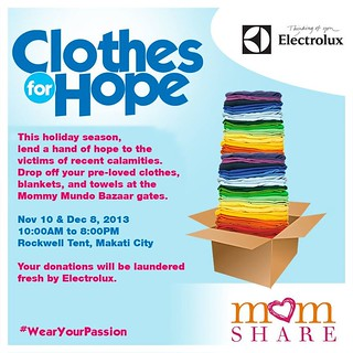 Clothes for Hope with the help of Electrolux