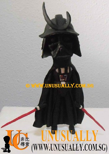 Unusually Fully Customized 3D Darth Vader Starwars Figurine - @www.unusually.com.sg