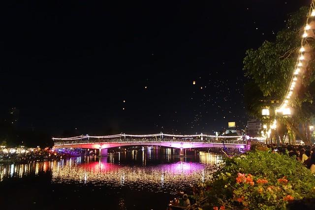 Bridge During Loi Krathong