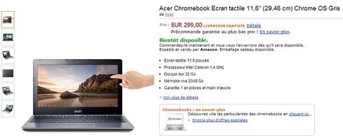 Chromebook Acer tactile C720p