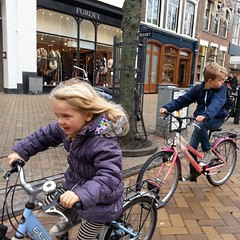 The Kids enjoying cycling around The G-spot of Bicycle Culture #groningen