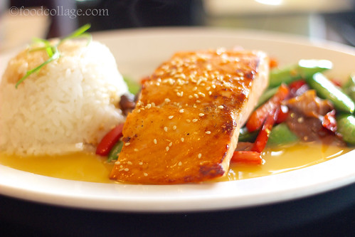Ponzu Glazed Salmon at Cap City Diner (Columbus)