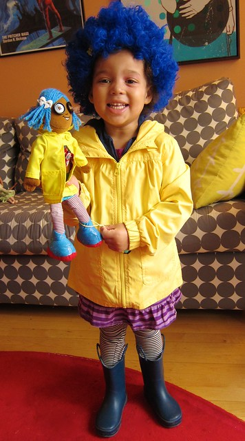 """Zoraline"" and her little me (Z as Coraline from her favorite movie of the same name)"