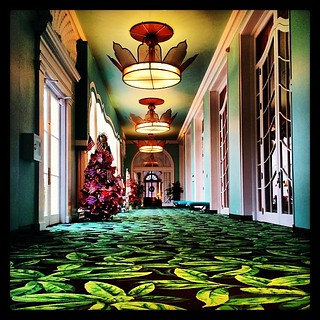 Still can feel the Dorothy Draper influence at #thegreenbrier #instagood #instamood #igers