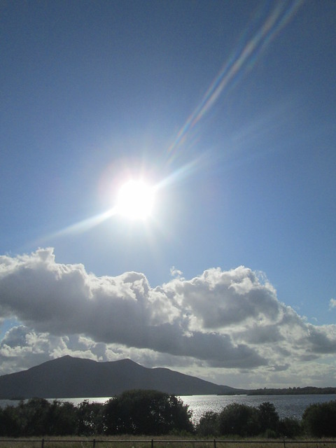 The sun over Muckross Lake