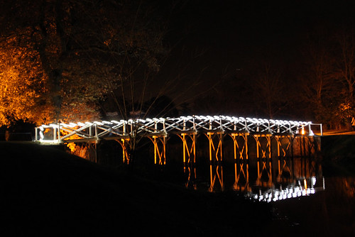 Chinese Bridge illuminated