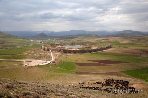 landscape temple fire iran azerbaijan east ost takhte shapard soleiman