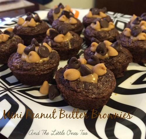 Mini Peanut Butter Brownies