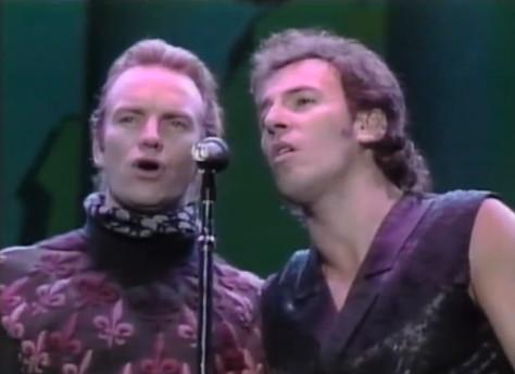 Bruce y Sting en el concierto de Buenos Aires 1988