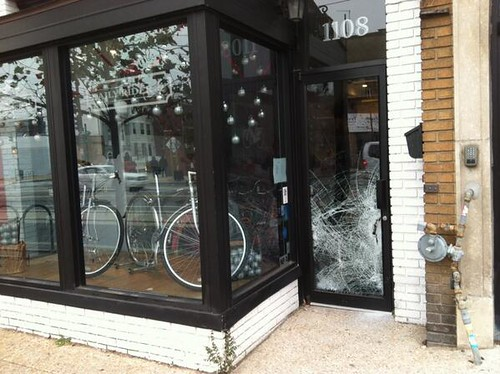 Daily Rider front window damage