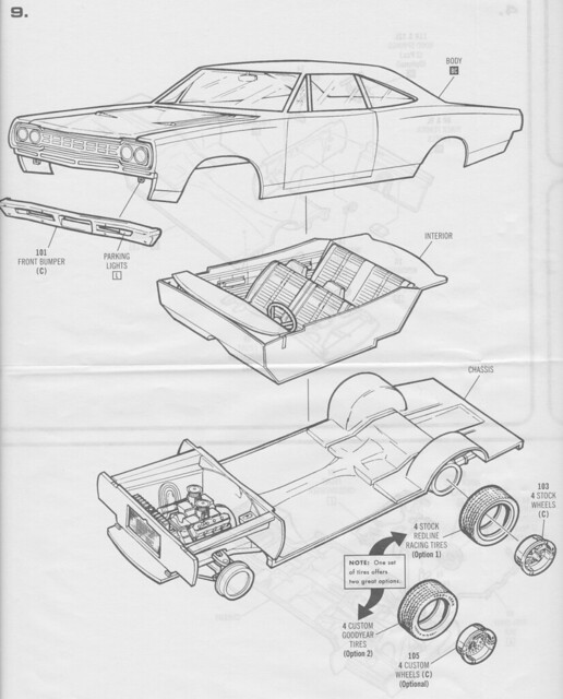 review  amt 1968 plymouth road runner hardtop a821  849
