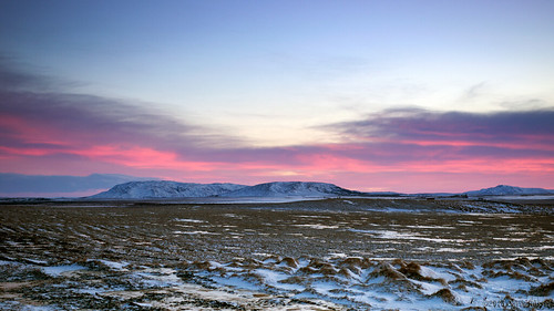 sunset snow mountains ice landscape iceland widescreen oru 169 2013