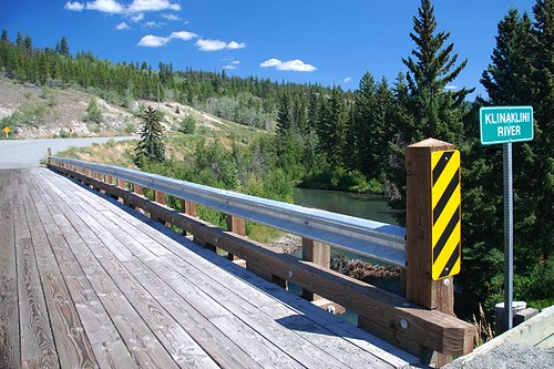 Klinaklini River at Tatla Lake, Highway 20, Chilcotin, British Columbia