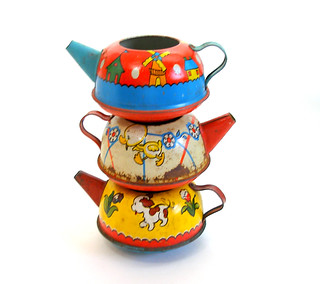 Ohio Art Tin Toy Teapots