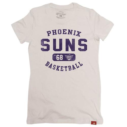 Phoenix Suns Sportiqe Women's Vintage Alvin Tee - White