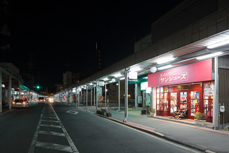 Quiet Arcade Street in Ishinomaki