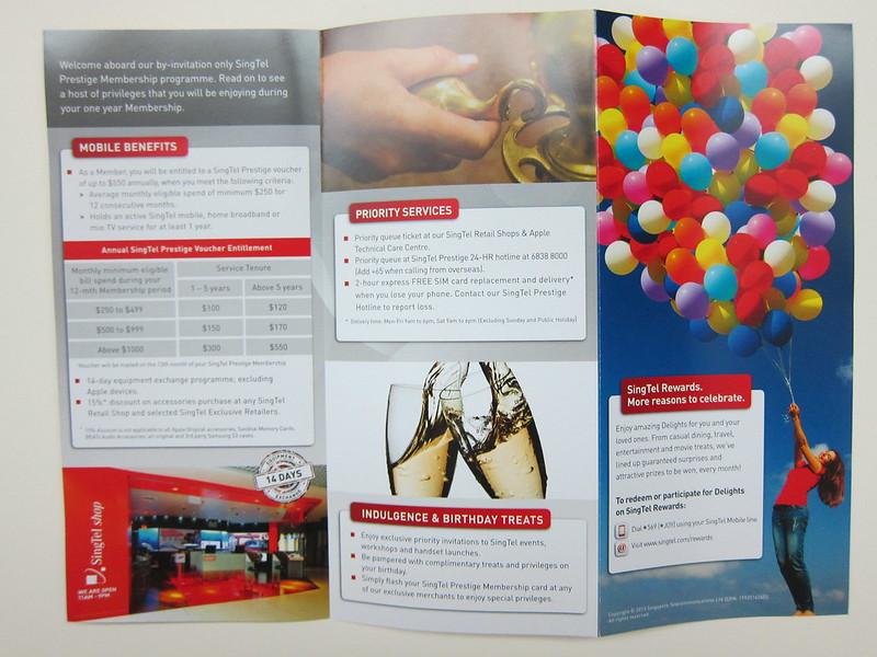 SingTel Prestige - Brochure Front