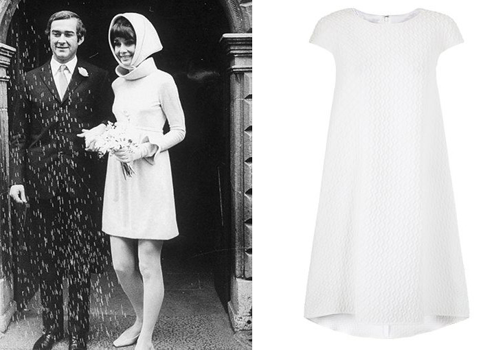 Audrey Hepburn short wedding dress
