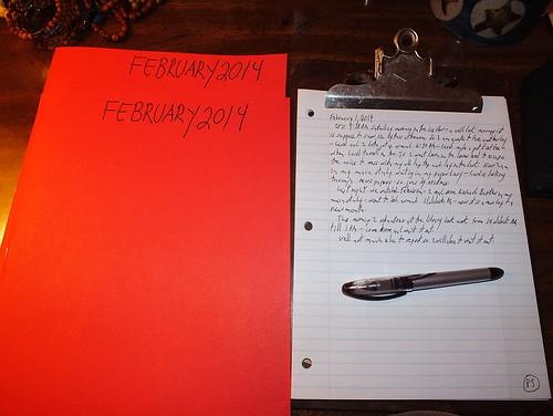 February 2014 diary