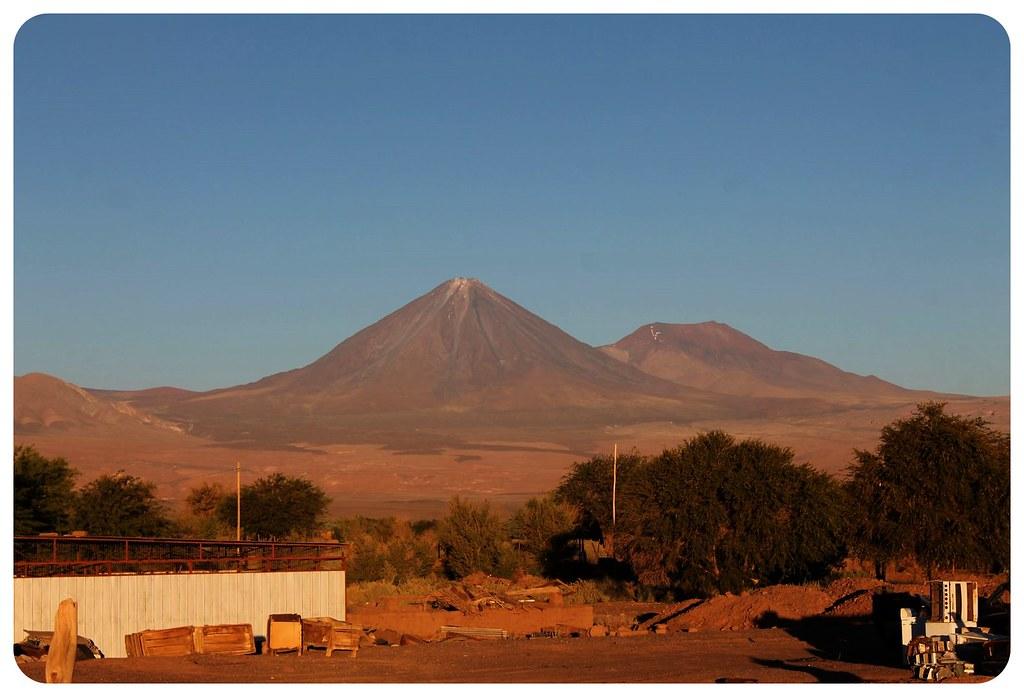 San Pedro de Atacama with volcano
