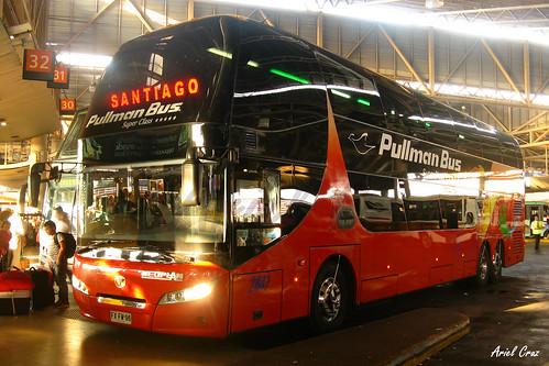 Pullman Bus en Santiago | Youngman Skyliner JNP6137S / FXFW96