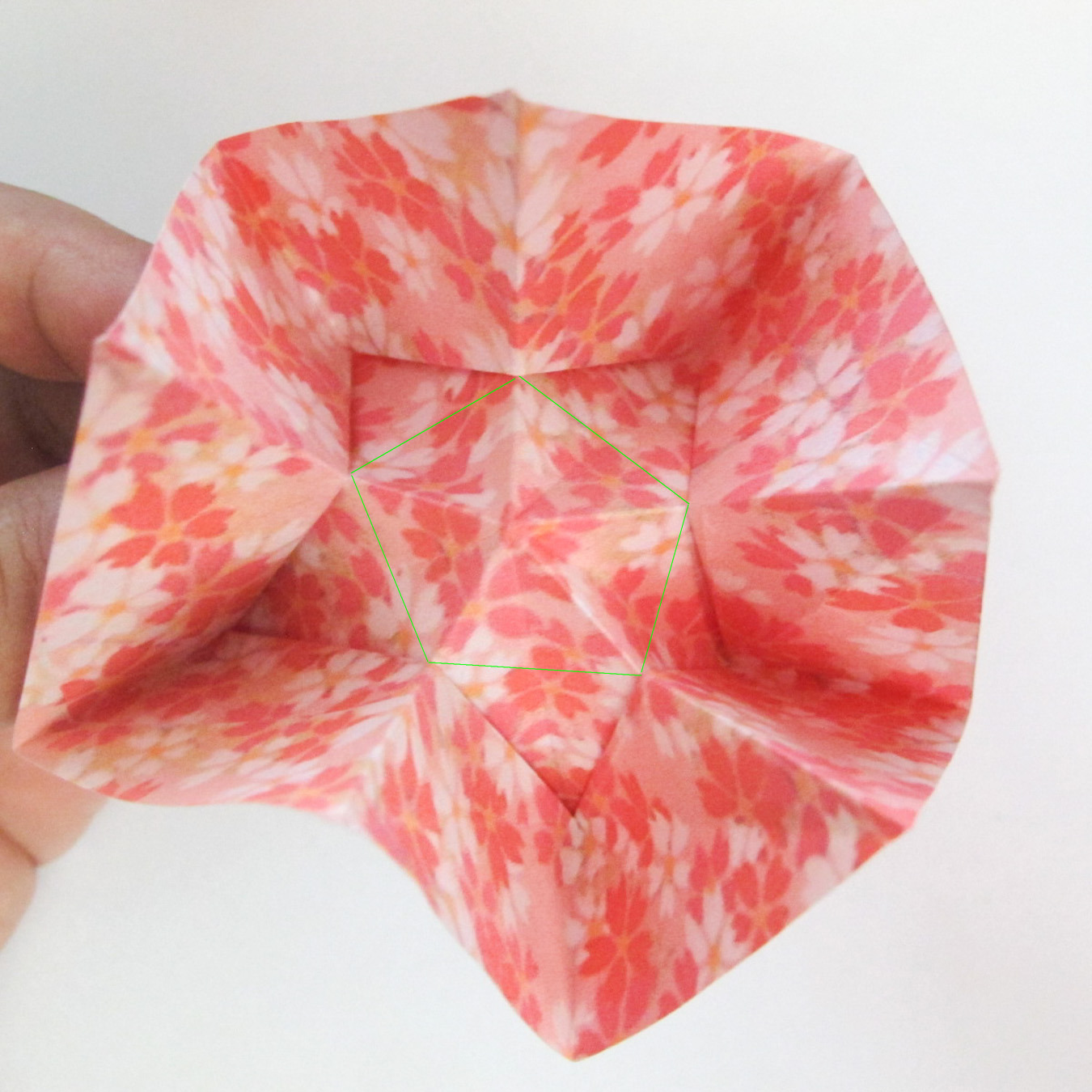 สอนวิธีการพับกระดาษเป็นดอกมะเฟือง (Origami Carambola) 022